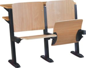 School Classroom Desk and Chair Lecture Hall Seat University Auditorium Chair (S04) pictures & photos