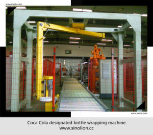 High Speed Vertical Rotating Arm Film Wrapping Machine- End of Line Packing System pictures & photos