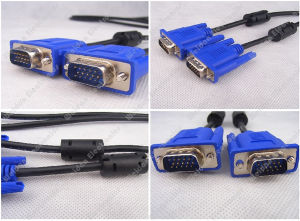 (3Coax+4) SVGA VGA Cable W/2 Ferrite Beads pictures & photos
