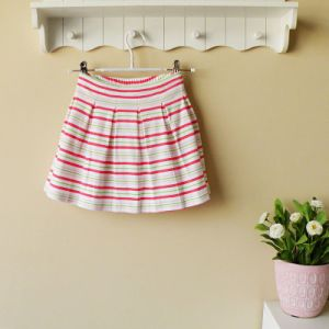 Pretty Summer Baby Girl′s Short Skirt, 100% Cotton Baby Clothes, Age: 3-6t