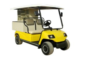 Yellow 2 Seaters Electric Picnic Car pictures & photos