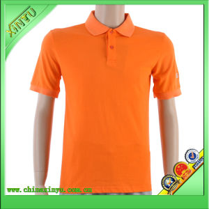 2017 Orange Color New Wholesale Cheap Simple Polo Shirt pictures & photos