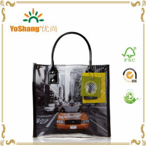 UV Printing Full Color Shiny PVC Bag Insulated Patent PVC Lunch Tote Bag pictures & photos