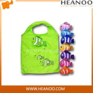 Promotion Colorful Foldable Handle Reusable Eco Shoulder Fish Shopping Bags pictures & photos