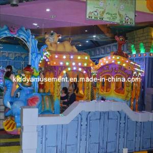 Indoor Luxury Cartoon Electric Train for Children Games