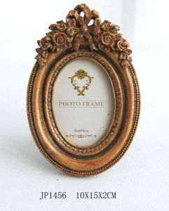 Hot En71 Polyresin Oval Rose Wedding Picture Frames pictures & photos