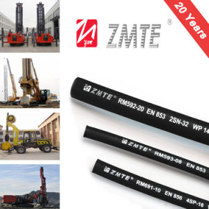 SAE 100r2at Steel Wire Braided Hydraulic Industrial Rubber Hose pictures & photos