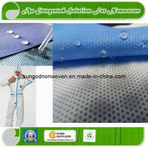 Hydrophilic SMS PP Nonwoven Laminated PE Film in The Middle pictures & photos