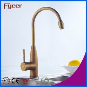Fyeer Brass Body High Arc Antique Brass Kitchen Sink Faucet pictures & photos