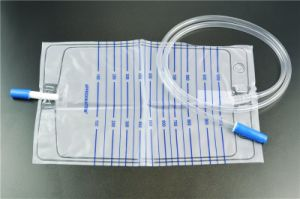 Urine Bag, Pull Push, Adult (2000ml) pictures & photos
