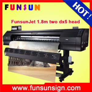 1440dpi Funsunjet Fs-1802k 1.8m Eco Solvent Banner Printer with Two Dx5 Head Digital Printing Machine pictures & photos