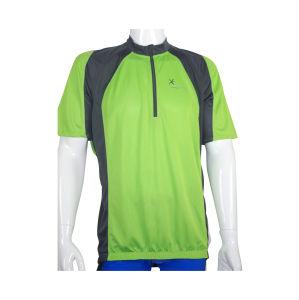 Men′s Ranglance Sleeve Half Zipper Cycling Jersey