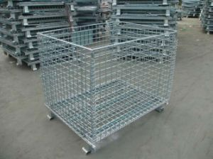 Foldable Galvanized Wire Mesh Pallet (JW-CN1412467) pictures & photos