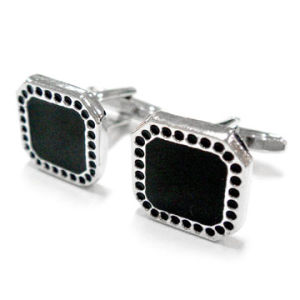 Classic Black Rectangle Cuff Links (JINJU0058)