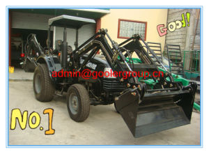 40HP 4WD New Farm Wheel Tractors with Front Loader and Backhoe pictures & photos