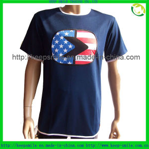 Custom Cotton Clothing for T-Shirts with Logo Patch on Chest pictures & photos