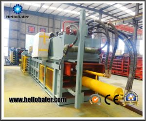 Semi Automatic Horizontal Waste Cardboard Baler with Hydraulic Press Cylinder pictures & photos