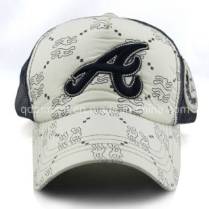 Felt Applique Embroidery Polyester Pongee Mesh Sport Baseball Cap (TRNB084) pictures & photos