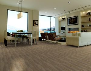 Wood Color Surface Low Price PVC Vinyl Flooring/Cheap Vinyl Sheet Flooring Prices pictures & photos