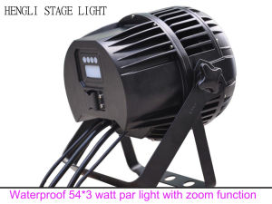LED Outdoor PAR 54*3 Watt RGBW Waterproof Light with Focus Zoom Function pictures & photos