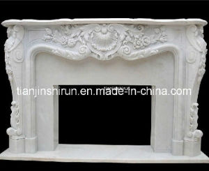 White Marble Mantel Fireplace Sculpture (XF638) pictures & photos