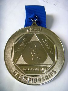 Zinc Alloy Full Metal Plated Award Medal with Ribbon pictures & photos