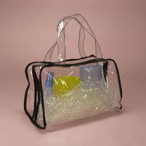 China Waterproof Material Plastic Beach Bag with Handle - China ...