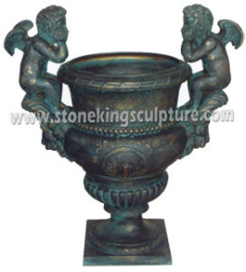 Cast Iron Flowerpot, Cast Iron Garden Vase (SK-7647) pictures & photos
