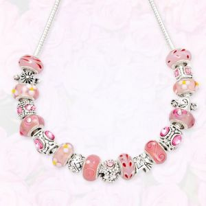 925 Silver Pink Necklace (C113)