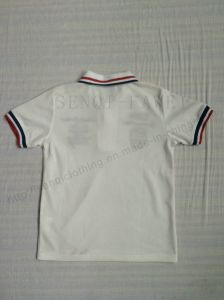 Silicone Print Polo Shirt for Boy in Children Clothing Sq-6256 pictures & photos