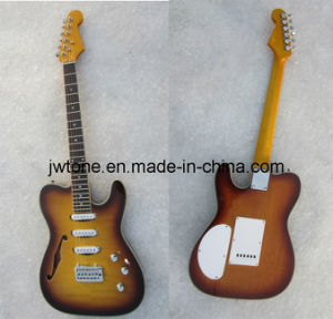 Semi Hollow Body F Hole Custom Quality Tele Electric Guitar pictures & photos