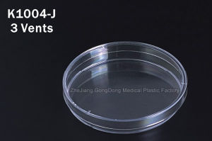 CE and FDA Certificated 90*15mm Disposable Petri Dish with 3vents pictures & photos