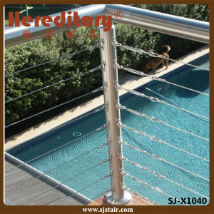 SUS 304# Stainless Steel Balustrade for Swimming Pool Fence (SJ-X1040) pictures & photos