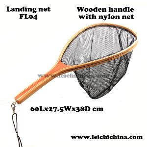 Quality Wooden Frame Nylon Net Fly Fishing Landing Net pictures & photos