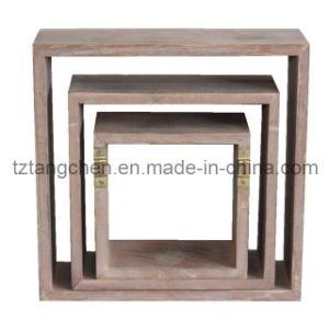 Wood Decorative Hanging Wall Shelf (TC-1812G027)