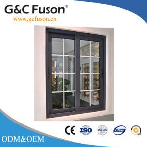Thermal Break Profile Aluminum Sliding Window with Decorative Line pictures & photos