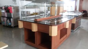 Commercial Marble Wooden Buffet Freezer Refrigerator Salad Bar pictures & photos