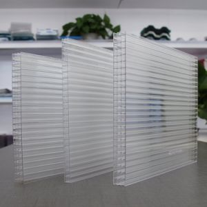 Polycarbonate Multiwall Sheet 4-Wall Sheet 100% Virgin Material, 50 Micro UV 10 Years Warranty pictures & photos