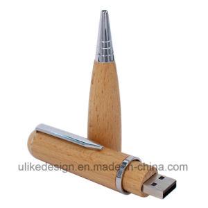Imprint Logo Pen Wood USB Flash Pen Driver pictures & photos