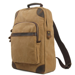 Student Canvas Backpack Bag Camping Hiking Fashion Bag (RS6905B) pictures & photos