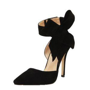 Women Sandals Heels Sweet Butterfly Knot 9cm Supper High Heel Summer Sandal Cool Zipper Thin Sexy Shoes pictures & photos