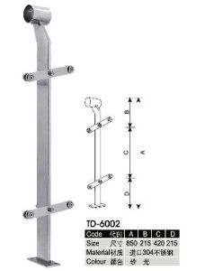 Solid Stainless Steel Staircase Handrail pictures & photos