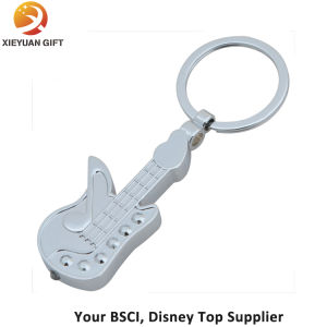 Gifts Guitar Shape Silver Plated Key Chains pictures & photos