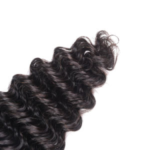Natural Color Brazilian Virgin Hair Weaving Deep Wave 12inches pictures & photos
