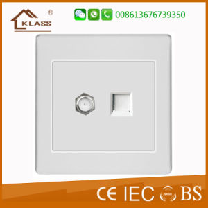 2-Gang TV Satelite Socket Outlet pictures & photos