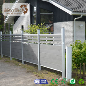 Modern Horizontal WPC Grill Fence in MID-Trellis pictures & photos