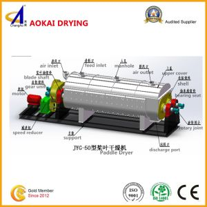 Continuous Operation Type Hollow Paddle Drying Machine for Sludge pictures & photos