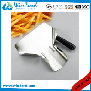 Commercial Stainless Steel French Fries Funnel Scoop Shovel with Double Plastic Detachable Handles pictures & photos