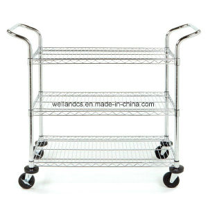 NSF Anti-Static ESD Rolling Industrial Metal Utility Cart Trolley (CJ-A1195) pictures & photos