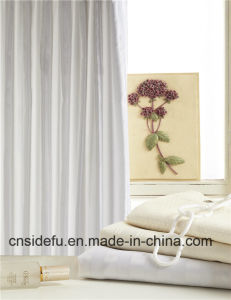 Best Price Customized Polyester Hotel Hookless Shower Curtain pictures & photos